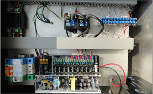 CCTV enclosure - Power supply, surge protection, data transmission, coax to fibre converters